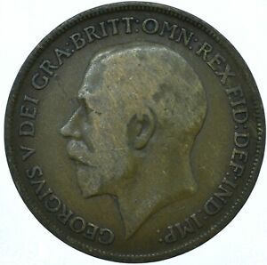 1920 ONE PENNY GB UK GEORGE V COLLECTIBLE COIN  WT27873