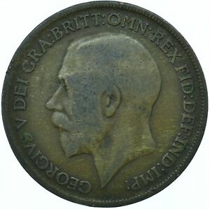 1920 ONE PENNY GB UK GEORGE V COLLECTIBLE COIN  WT27875