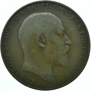 1907 ONE PENNY COIN GB UK  EDWARD VII    WT27896