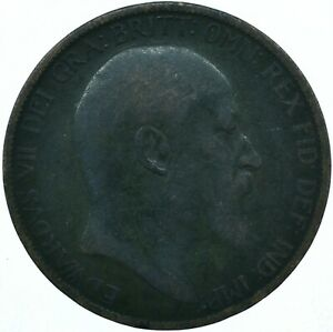 1903 ONE PENNY COIN GB UK  EDWARD VII    WT27897
