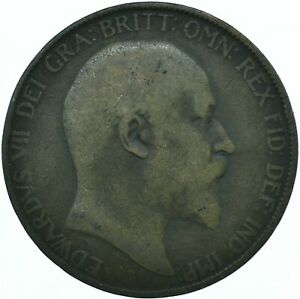1907 ONE PENNY COIN GB UK  EDWARD VII    WT27899