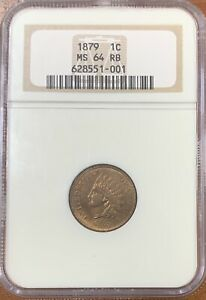 1879 INDIAN HEAD CENT NGC MS64RB NICE COIN