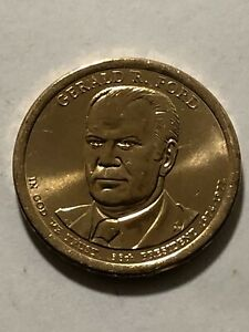 $1 DOLLAR COIN PRESIDENTIAL GERALD FORD38 NOT CIRCULATED