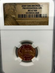 2009  LINCOLN PROFESSIONAL LIFE SMS BRONZE BICENTENNIAL CENT PENNY 1C NGC MS67RD