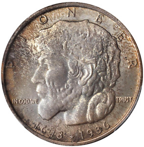 Click now to see the BUY IT NOW Price! 1936 ELGIN COMMEMORATIVE PCGS MS67 HINTS OF AMBER AND MAGENTA ABSOLUTE GEM