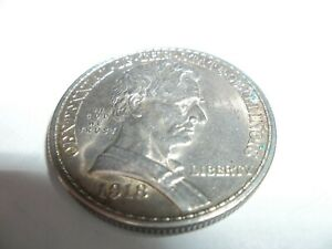 Click now to see the BUY IT NOW Price! CENTENNIAL OF THE STATE OF ILLINOIS 1918 HALF DOLLAR