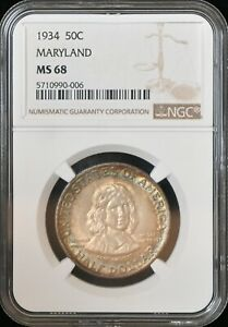 Click now to see the BUY IT NOW Price! 1934 50C MARYLAND COMMEMORATIVE MS68 NGC