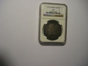 1795 FLOWING HAIR DOLLAR F12 3 LEAVES AS GRADED BY NGC