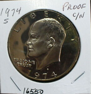 US EISENHOWER 1974S UNCIRCULATED PROOF DOLLAR COIN
