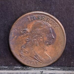 1803 LARGE CENT   SMALL DATE LARGE FRACTION   XF/CH XF DETAILS  38051