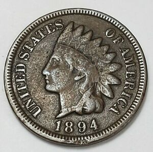 3 GOOD LOW MINTAGE 1894 INDIAN HEAD CENT