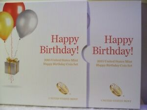 Click now to see the BUY IT NOW Price! 2015 S US MINT HAPPY BIRTHDAY PROOF 5 COIN SET