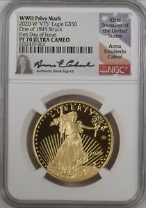 Click now to see the BUY IT NOW Price! 2020 END WORLD WAR II AMERICAN EAGLE GOLD NGC PF70UC PR70 V75 FDI CABRAL SIGNED