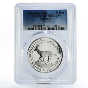 Click now to see the BUY IT NOW Price! BAHRAIN 5 DINARS WORLD WILDLIFE FUND SERIES GAZELLE PR70 PCGS SILVER COIN 1986