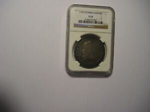 1795 FLOWING HAIR DOLLAR F12 3 LEAVES AS GRADED BY NGC PROBLEM FREE COIN