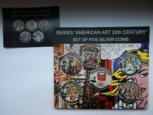 Click now to see the BUY IT NOW Price! USA 5 X 1 DOLLAR 2017 AMERICAN ART 20TH CENTURY MINTAGE 200 PCS SILVER RAR