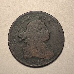 1802/0 DRAPED BUST HALF CENT   AFFORDABLE KEY DATE