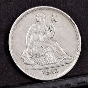 Click now to see the BUY IT NOW Price! 1838 O LIBERTY SEATED DIME   CH AU DETAILS  38498