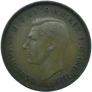 1937 ONE PENNY GB UK GEORGE VI NICE COLLECTIBLE     WT29671
