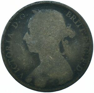 1890 ONE PENNY GREAT BRITAIN QUEEN VICTORIA  BEAUTIFUL COLLECTIBLE      WT29672