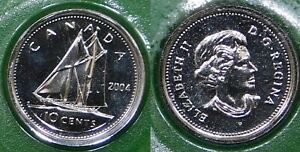 2004 CANADA  P MARK  DIME SEALED IN CELLOPHANE