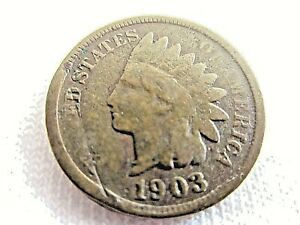 1903 INDIAN HEAD  ONE CENT            . 5.8/50