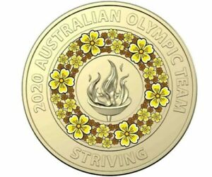 2020   21   TOKYO OLYMPICS   AUS $2 COIN   STRIVING   FROM A SEALED BAG   UNC