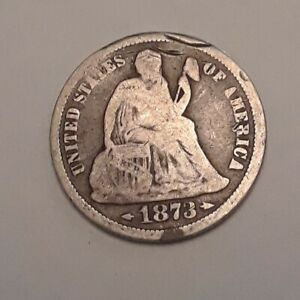 1873 US SEATED LIBERTY DIME   ARROWS
