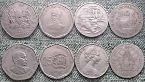 LOT WORLD COINS COLLECTION NICE COINS R8