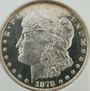 1878P 8TF ANACS OBV. DMPL MS64  MORGAN. ONLY ONE SO FAR.