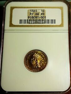 Click now to see the BUY IT NOW Price! 1865 INDIAN HEAD CENT NGC PR66RD BEAUTIFUL RED PROOF FINEST KNOWN  POP. 3
