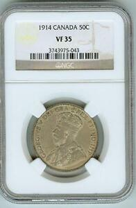 Click now to see the BUY IT NOW Price! NGC VF35 1914 CANADA 50C
