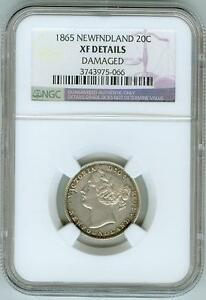 Click now to see the BUY IT NOW Price! NGC XF DETAILS 1865 NEWFOUNDLAND 20C  100 000 MINTAGE