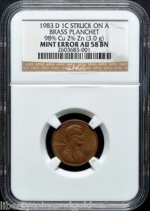 Click now to see the BUY IT NOW Price! 1983 D COPPER PENNY NGC AU 58 BN ULTRA  TRANSITIONAL ERROR ONLY 2 EXIST