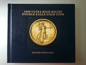 Click now to see the BUY IT NOW Price! 2009 ULTRA HIGH RELIEF DOUBLE EAGLE GOLD COIN W/BOX COA AND BOOK
