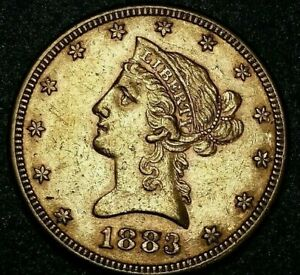 1883 P USA $10 LIBERTY HEAD GOLD COIN GOLD NUGGET PRE 1933 LOW MINTAGE GOLD COIN