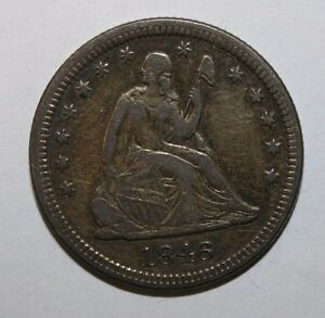 1846 SEATED SILVER QUARTER AS7