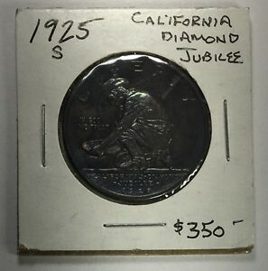 Click now to see the BUY IT NOW Price! 1925 S CALIFORNIA DIAMOND JUBILEE COMMEMORATIVE HALF DOLLAR BU TONED
