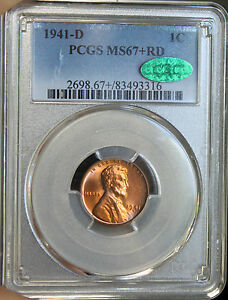 Click now to see the BUY IT NOW Price!  REGISTRY CAC  MS 67 RD 1941 D PCGS LINCOLN WHEAT PENNY ONLY ONE ON EBAY