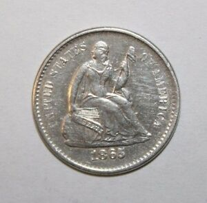 Click now to see the BUY IT NOW Price! 1865 S SEATED HALF DIME H50