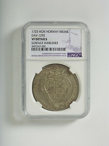 Click now to see the BUY IT NOW Price! 1725 NORWAY  VF   NGC SILVER COIN KRONE DAV 1292