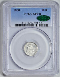 Click now to see the BUY IT NOW Price! 1860 LIBERTY SEATED H10C PCGS MS 68