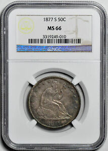 Click now to see the BUY IT NOW Price! 1877 S LIBERTY SEATED 50C NGC MS 66