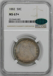 Click now to see the BUY IT NOW Price! 1882 LIBERTY SEATED 50C NGC MS 67
