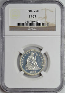 Click now to see the BUY IT NOW Price! 1884 LIBERTY SEATED 25C NGC PR 67