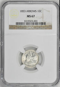 Click now to see the BUY IT NOW Price! 1853 LIBERTY SEATED 10C NGC MS 67