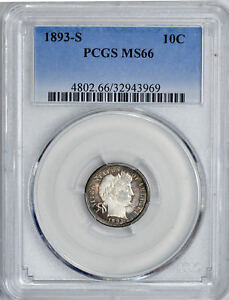 Click now to see the BUY IT NOW Price! 1893 S BARBER 10C PCGS MS 66
