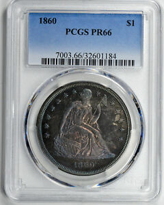 Click now to see the BUY IT NOW Price! 1860 LIBERTY SEATED S$1 PCGS PR 66
