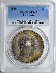 Click now to see the BUY IT NOW Price! 1900 LAFAYETTE S$1 PCGS MS 65