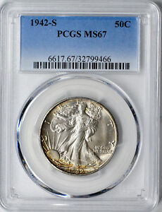 Click now to see the BUY IT NOW Price! 1942 S WALKING LIBERTY 50C PCGS MS 67